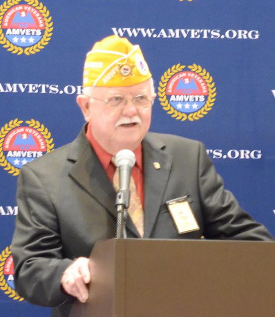 AMVETS 2014-2015 Commander Larry Via